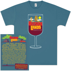 Outside Lands 2011 Wine Glass T-Shirt