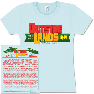 Outside Lands 2011 Women's Main Event T-Shirt