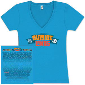 Outside Lands 2013 Ladies Main Event Turquoise T-Shirt