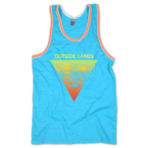 Outside Lands 2013 Turquoise Men's Tank