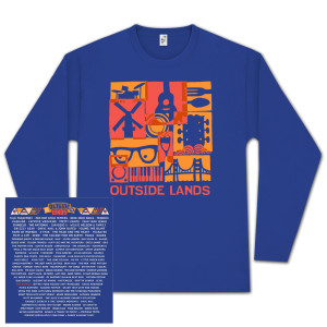 Outside Lands 2013 Long Sleeve Blue T-shirt