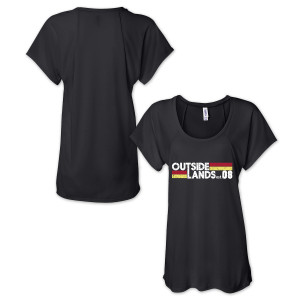 Outside Lands 2015 Ladies Retro Raglan