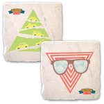Outside Lands Festival 2013 Cars & Sunglasses Coasters (Set of 2)