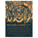 Outside Lands 2016 Event Poster – James Eads