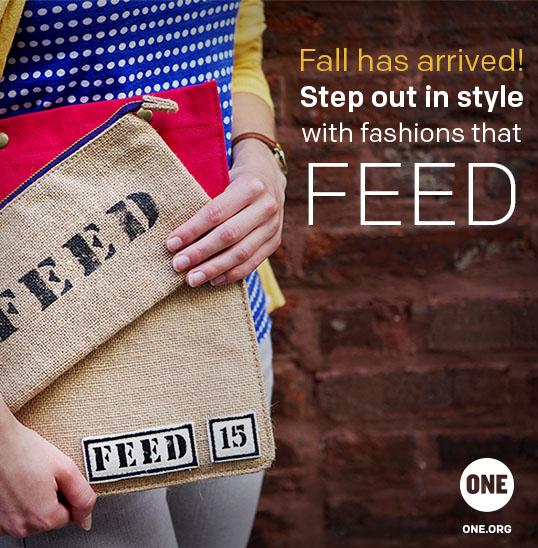 This Fall, buy fashions that FEED