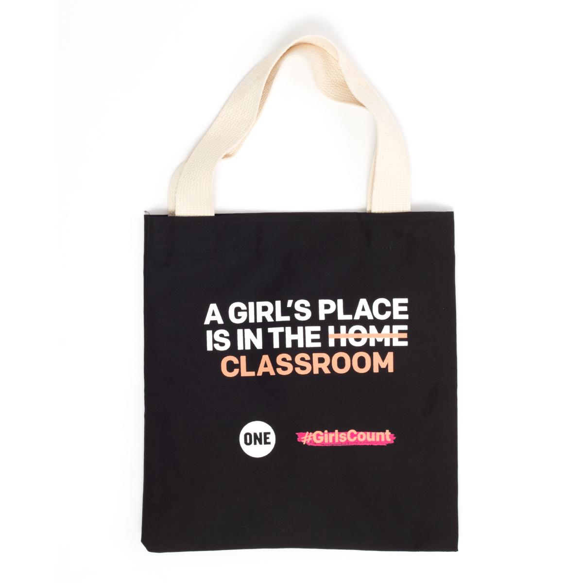 #GirlsCount Tote Bag