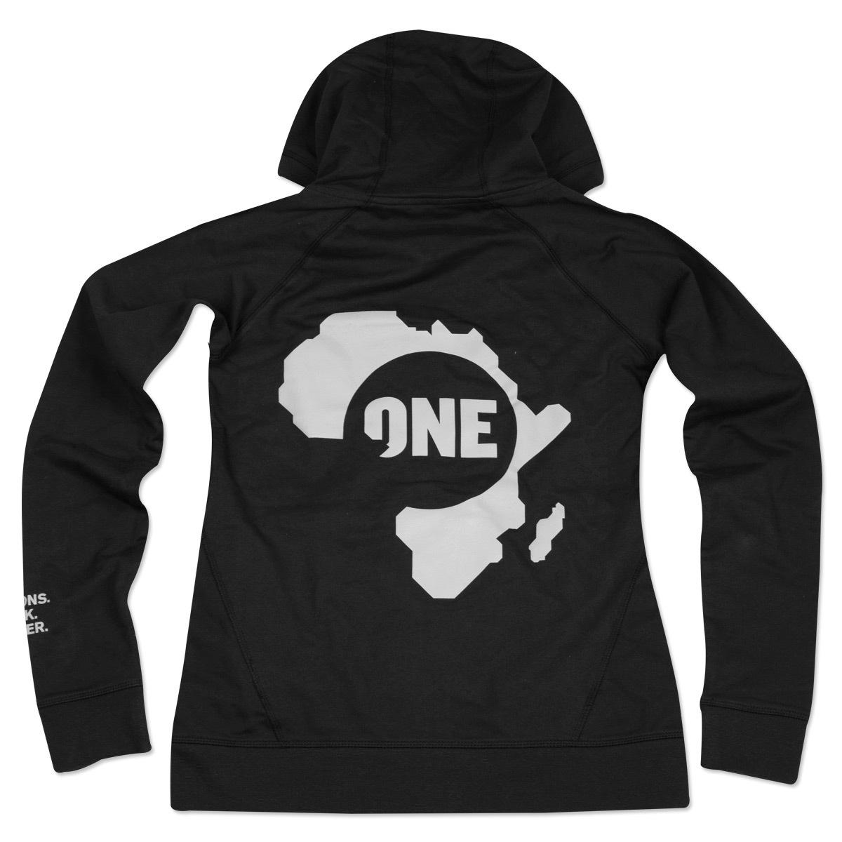 Ladies ONE Speak Louder Africa Zip Hoodie
