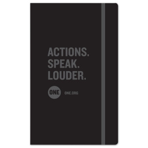 ONE Actions. Speak. Louder. Moleskine Notebook