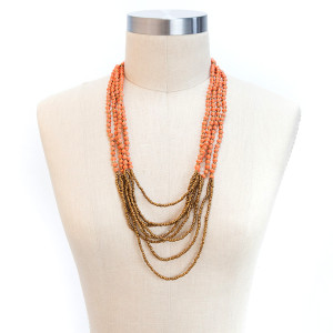 ONE Happy Night Necklace (Peach)
