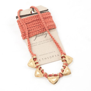 Alem Triangle Tassel Necklace (Vintage Rose)