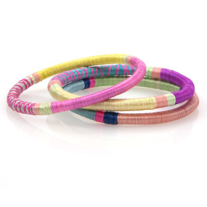 Patterned Sweetgrass Bangle Set
