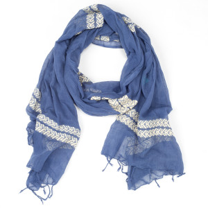 Scarf - Rita (Midnight Blue/Ivory)