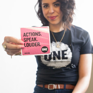 ONE Actions. Speak. Louder. Stickers