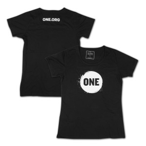 ONE Campaign Women's T-Shirt in Black