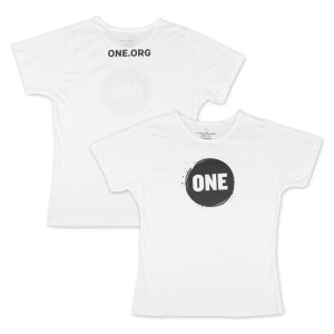 ONE Campaign Women's T-Shirt in White