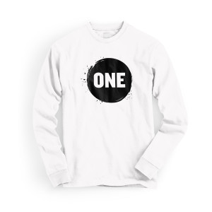 ONE Campaign Long Sleeve Unisex T-shirt in White
