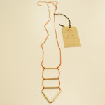 Alem Triangle Tube Necklace (Vintage Rose)