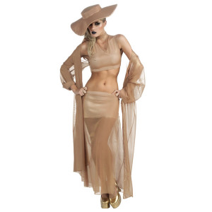 Lady Gaga Gold Grammy Costume