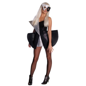 Lady Gaga Black Sequin Dress Costume