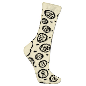 Lady Gaga Skeleton Socks