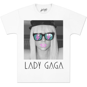 Lady Gaga Glasses Deco Enzyme Wash T-Shirt
