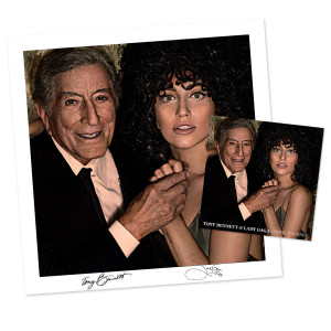 Tony Bennett & Lady Gaga Cheek To Cheek Deluxe CD/Signed Litho Bundle