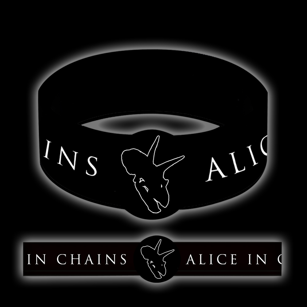 Alice In Chains Dino Outline Rubber Bracelet