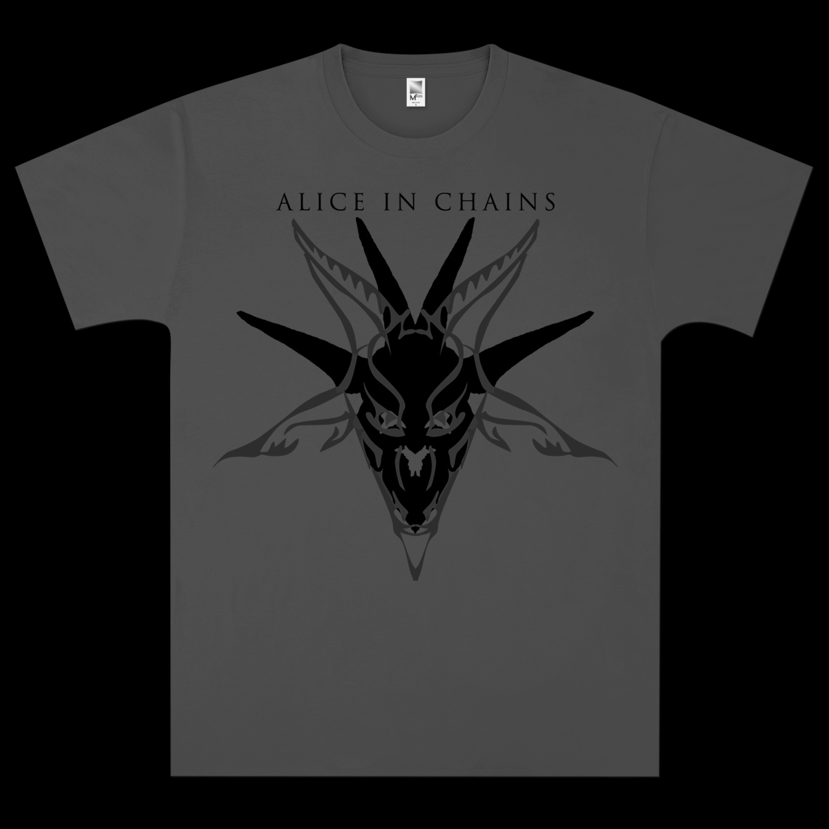 Alice In Chains Black Skull T-Shirt