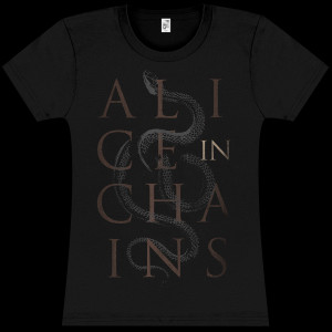 Alice In Chains Serpent Stack Girls T-Shirt