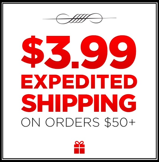 $3.99 Expedited Shipping!