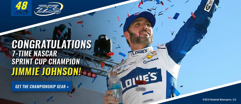 Jimmie Johnson 2016 NASCAR Sprint Cup Champion