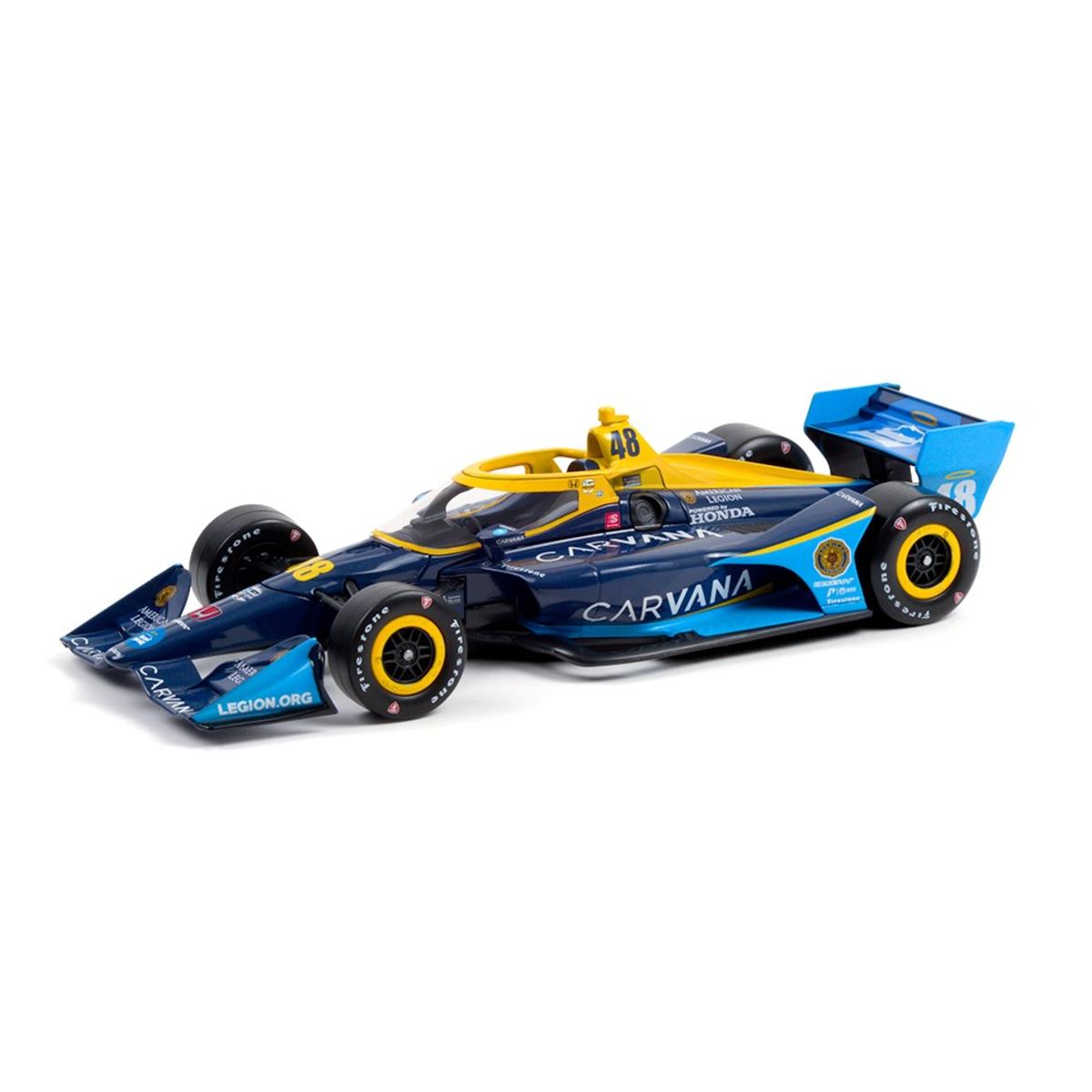Autographed Jimmie Johnson IndyCar Series 2021 #48 1:18 Diecast