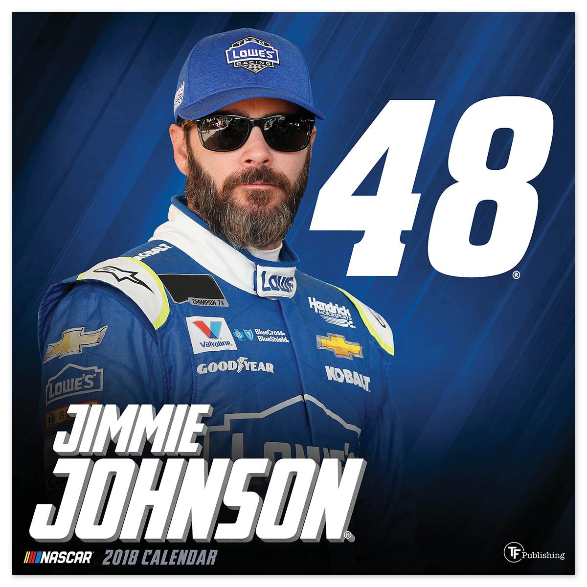 "Jimmie Johnson #48 2018 12""x 12"" Wall Calendar"