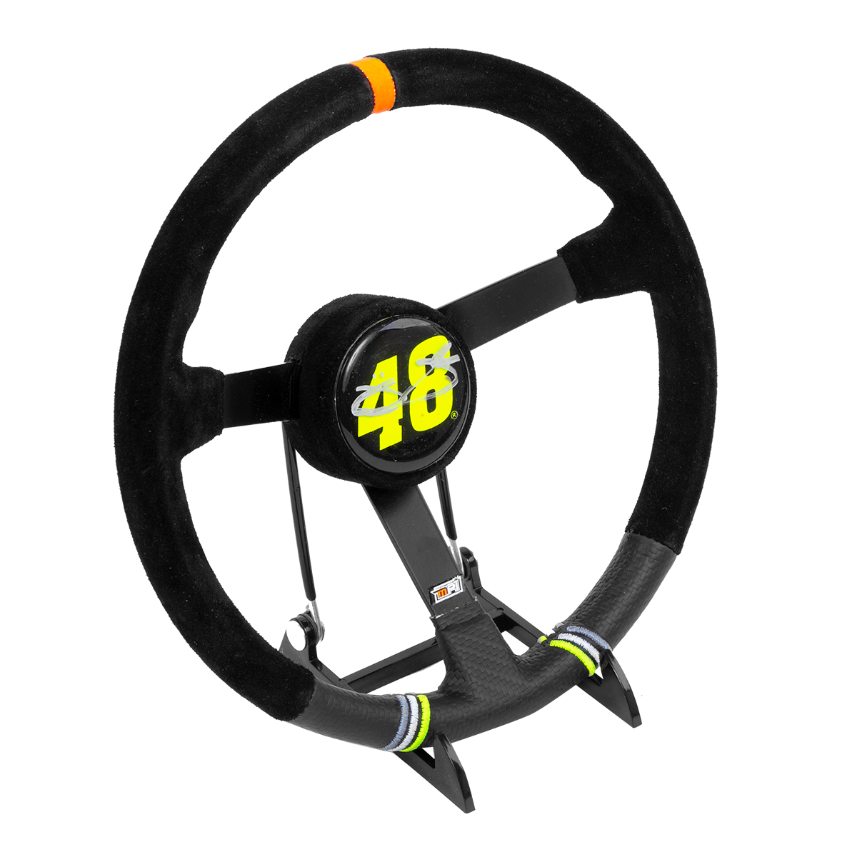 Autographed Jimmie Johnson Custom  Replica Mini Steering Wheel - measures 8 1/4 inches in diameter