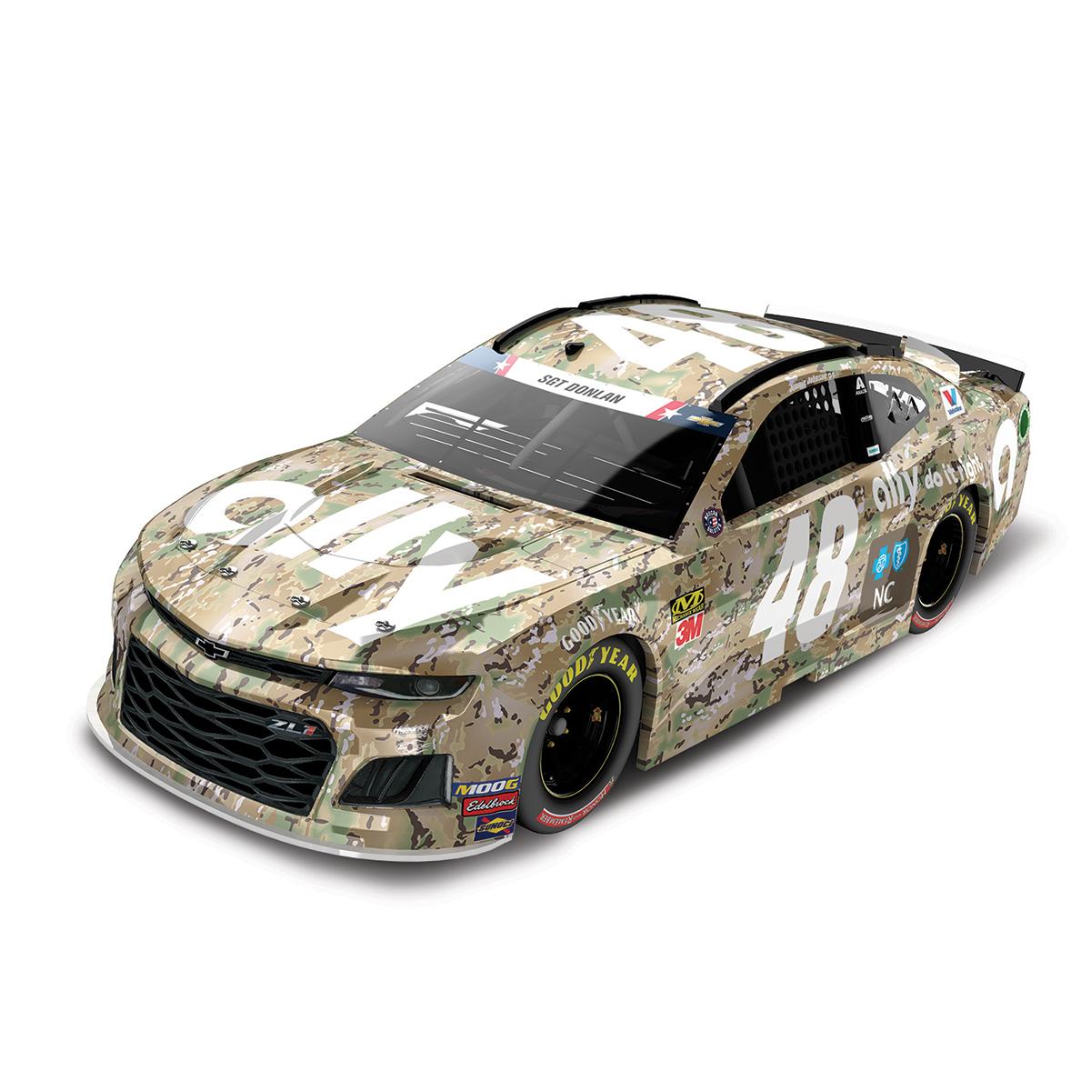 Jimmie Johnson 2019 #48 NASCAR Ally Patriotic Elite 1:24 - Die Cast