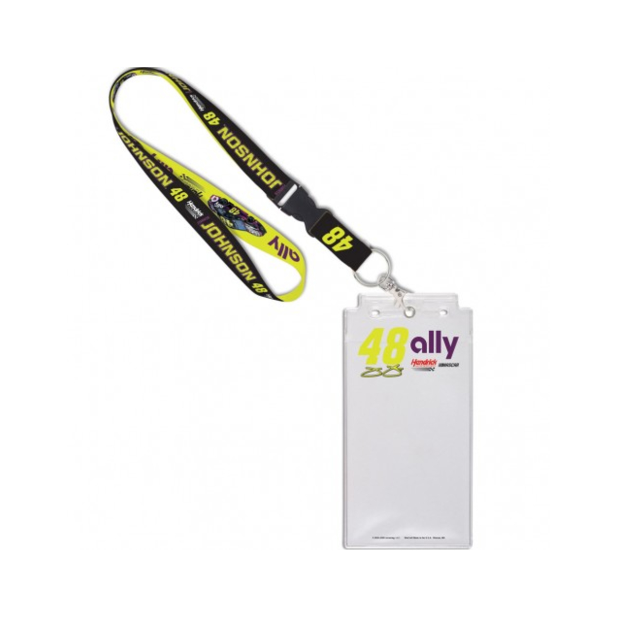 Jimmie Johnson #48 2020 ally Credential Holder with Lanyard