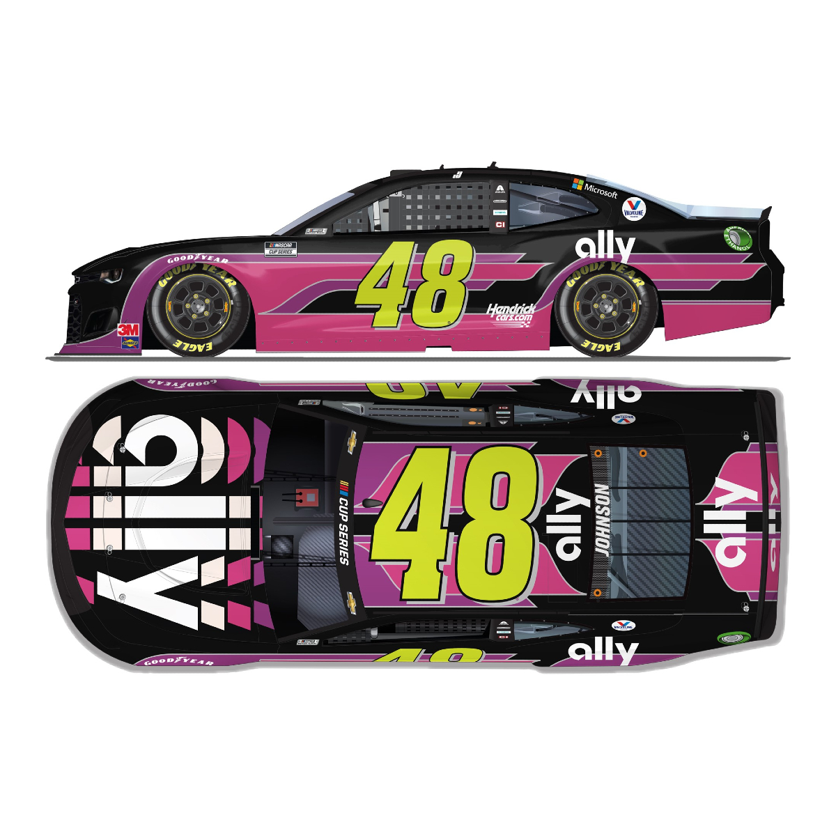 Jimmie Johnson No. 48 Ally / Danny Koker Chevrolet HO 1:24 - Die Cast