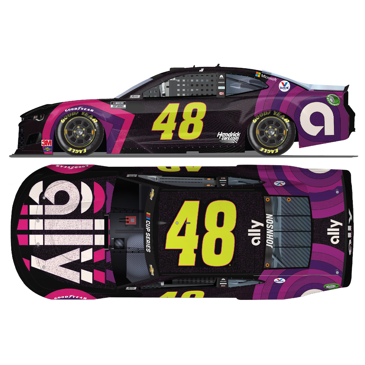 "Jimmie Johnson No. 48 Ally ""Sign for Jimmie"" NASCAR Cup Series ELITE 1:24 - Die Cast"