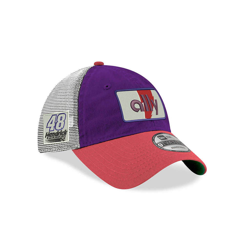 920 Trucker Johnson Ally White & Purple Hat