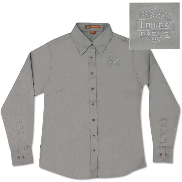 Team Lowe's Racing Ladies Long Sleeved Twill Shirt