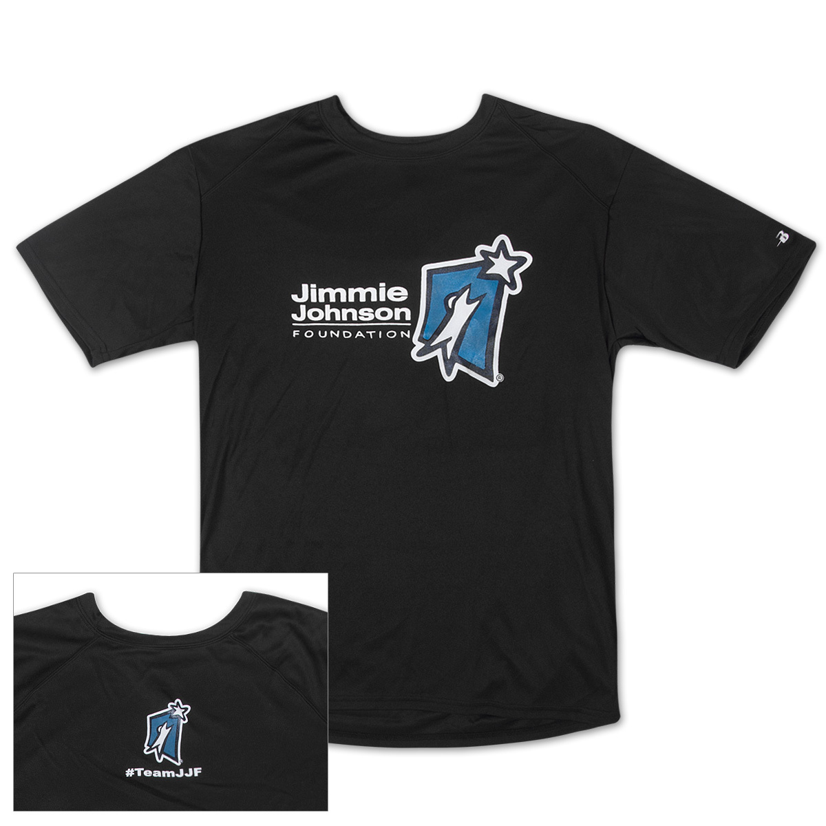 Jimmie Johnson Foundation #TeamJJF BadgerT-shirt