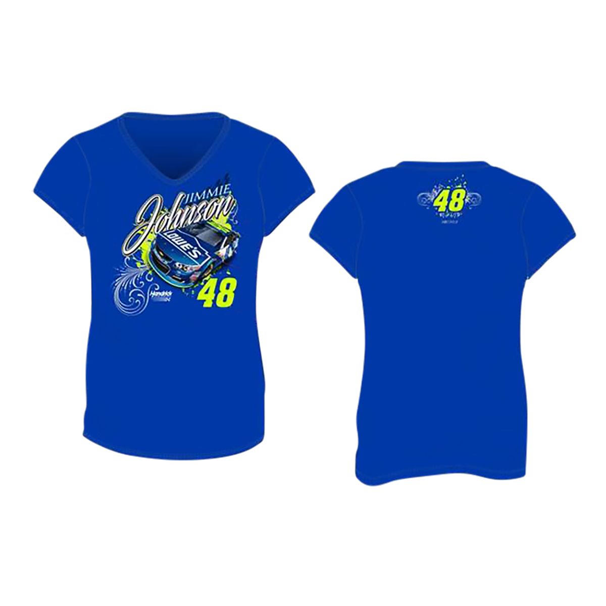 Jimmie Johnson #48 2017 Lowes Ladies V-neck T-shirt