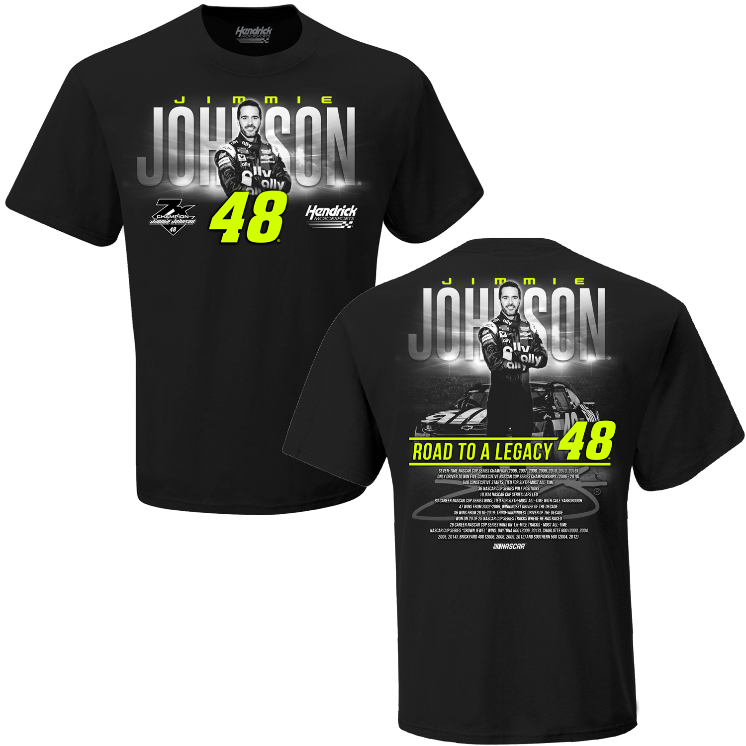 Jimmie Johnson #48 2020 Road to a Legacy T-shirt