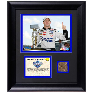 Jimmie Johnson 2009 Brick Yard 400 6 x 8 Photo w/ Brick Piece