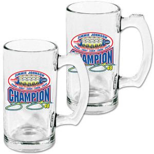Jimmie Johnson #48 2010 Sprint Cup Champ 2-Pack Glass Sport Mugs