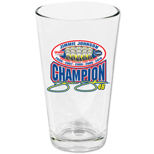 Jimmie Johnson #48 2010 Sprint Cup Champ Pint Glass