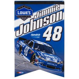 "Jimmie Johnson #48 Lowe's 17"" x 26"" Premium Felt Banner"