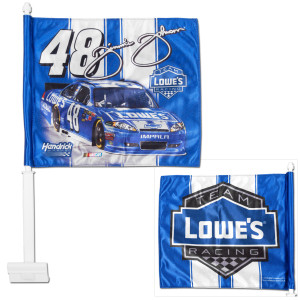 Jimmie Johnson #48 Lowes Car Flag