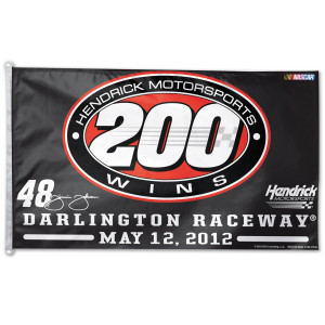 Jimmie Johnson Hendrick Motorsports 200th Win 2-sided 3x5' Flag