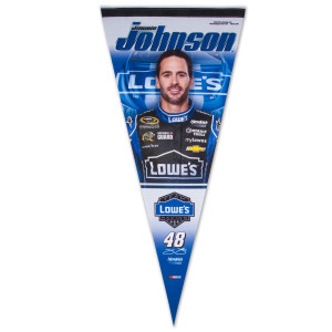 "Jimmie Johnson Lowes 17x40"" Premium Pennant"